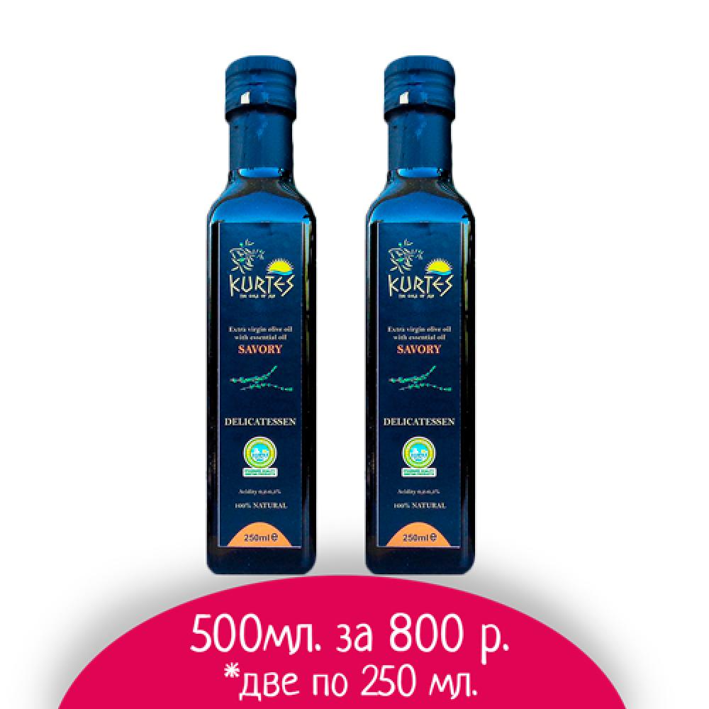 АКЦИЯ - Оливковое масло KURTES Extra virgin PDO со вкусом Чабера - 500 мл. Кислотность 0,2-0,3. - доставка в Ваш город