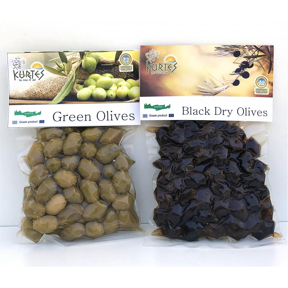 Оливки черные (маслины) KURTES 250 гр. - доставка в Ваш город