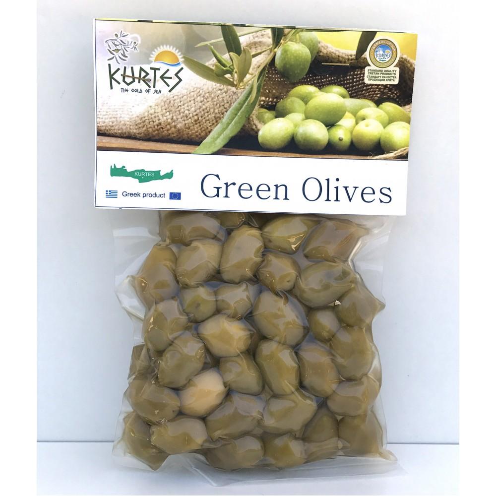 Натуральные зеленые оливки KURTES 200 гр.