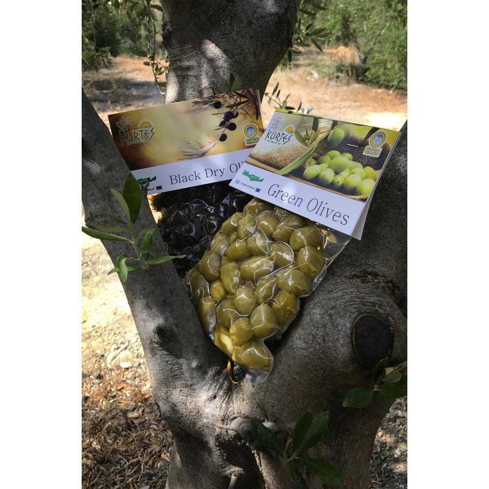 Оливки зеленые KURTES 200 гр. - доставка в Ваш город