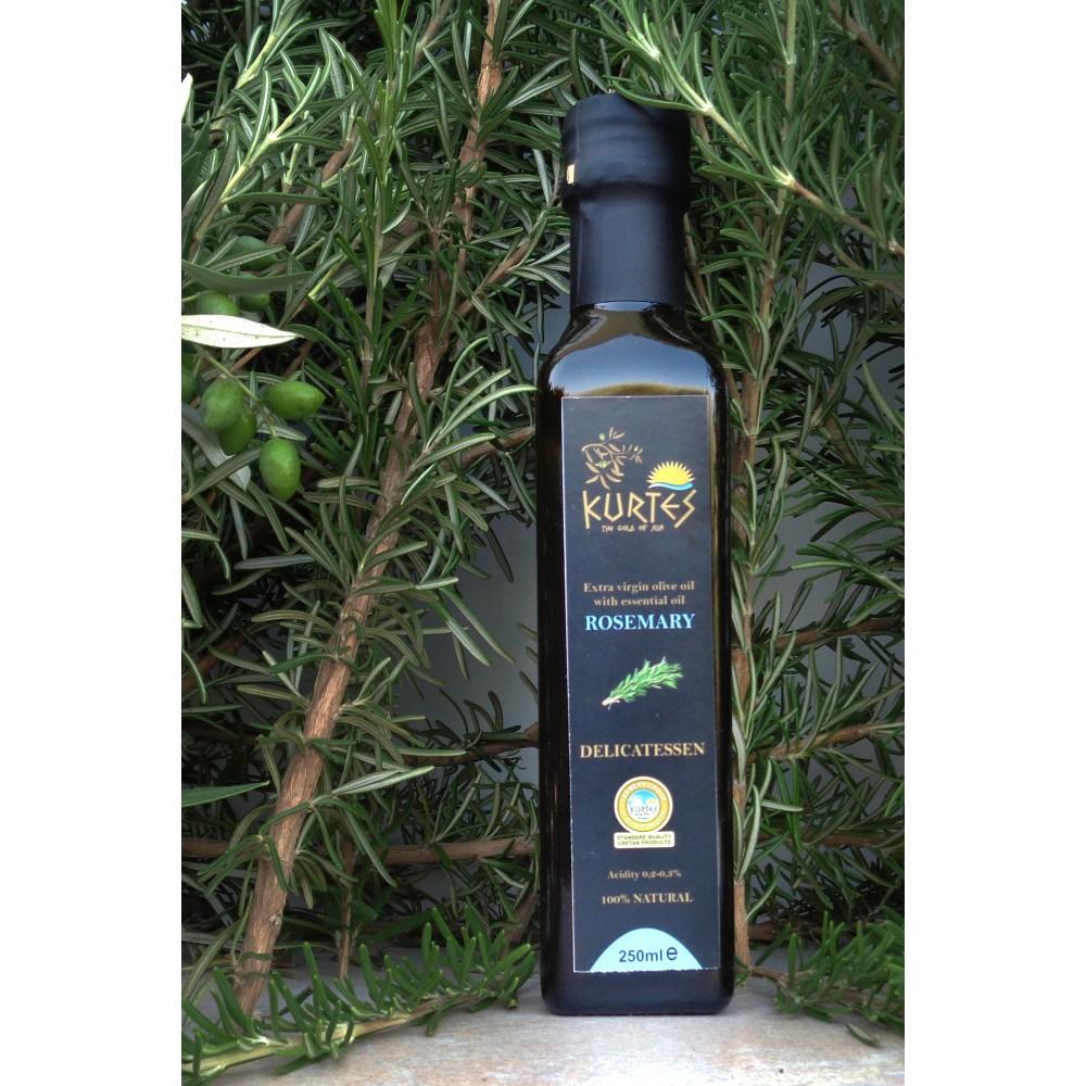 Оливковое масло KURTES Extra virgin PDO со вкусом Розмарина - 250 мл. Кислотность 0,2-0,3. - доставка в Ваш город