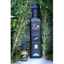 Оливковое масло KURTES Extra virgin PDO со вкусом Розмарина - 250 мл. Кислотность 0,2-0,3.