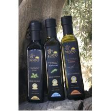 Оливковое масло KURTES Extra virgin PDO со вкусом Чабера - 250 мл. Кислотность 0,2-0,3.