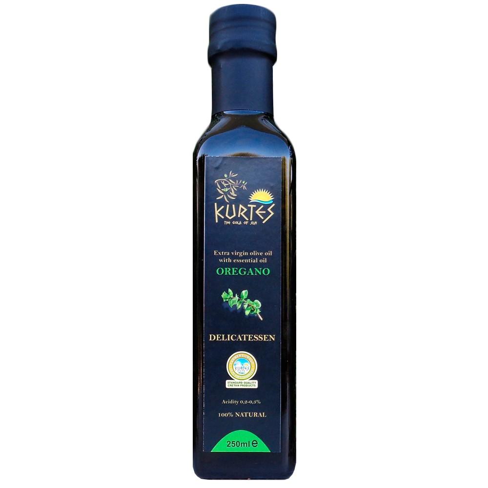 Оливковое масло KURTES Extra virgin PDO со вкусом Орегано - 250 мл. Кислотность 0,2-0,3. - 2017г. - доставка в Ваш город