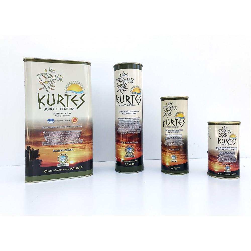 Оливковое масло KURTES Extra virgin PDO 3 л. - доставка в Ваш город