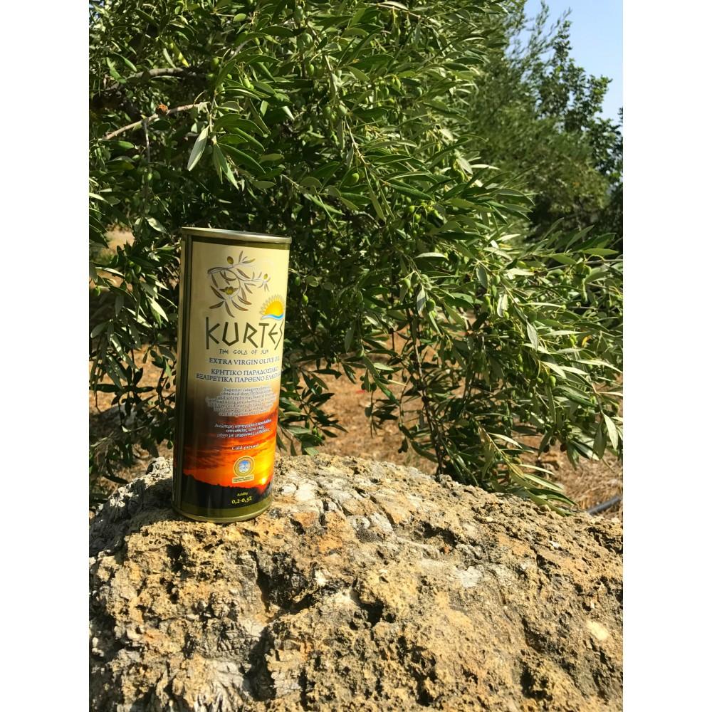 АКЦИЯ - Оливковое масло KURTES Extra virgin PDO 1 л. - доставка в Ваш город