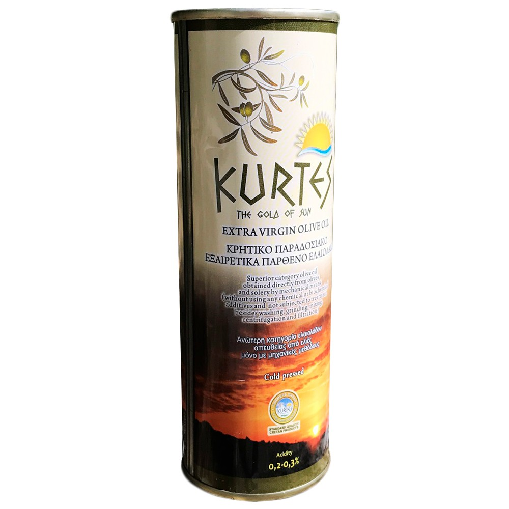 Оливковое масло KURTES Extra virgin PDO 0,5 л. - доставка в Ваш город