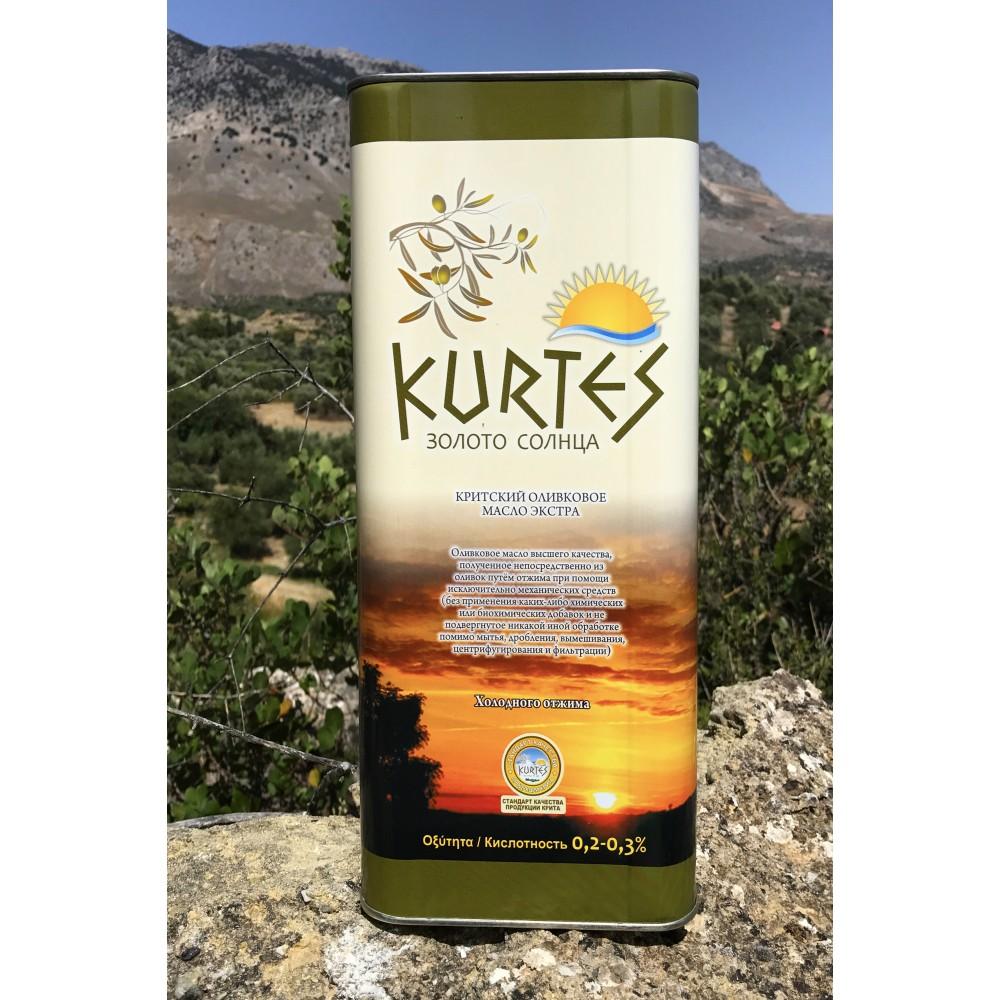 АКЦИЯ - Оливковое масло KURTES Extra virgin PDO 10 л. - доставка в Ваш город