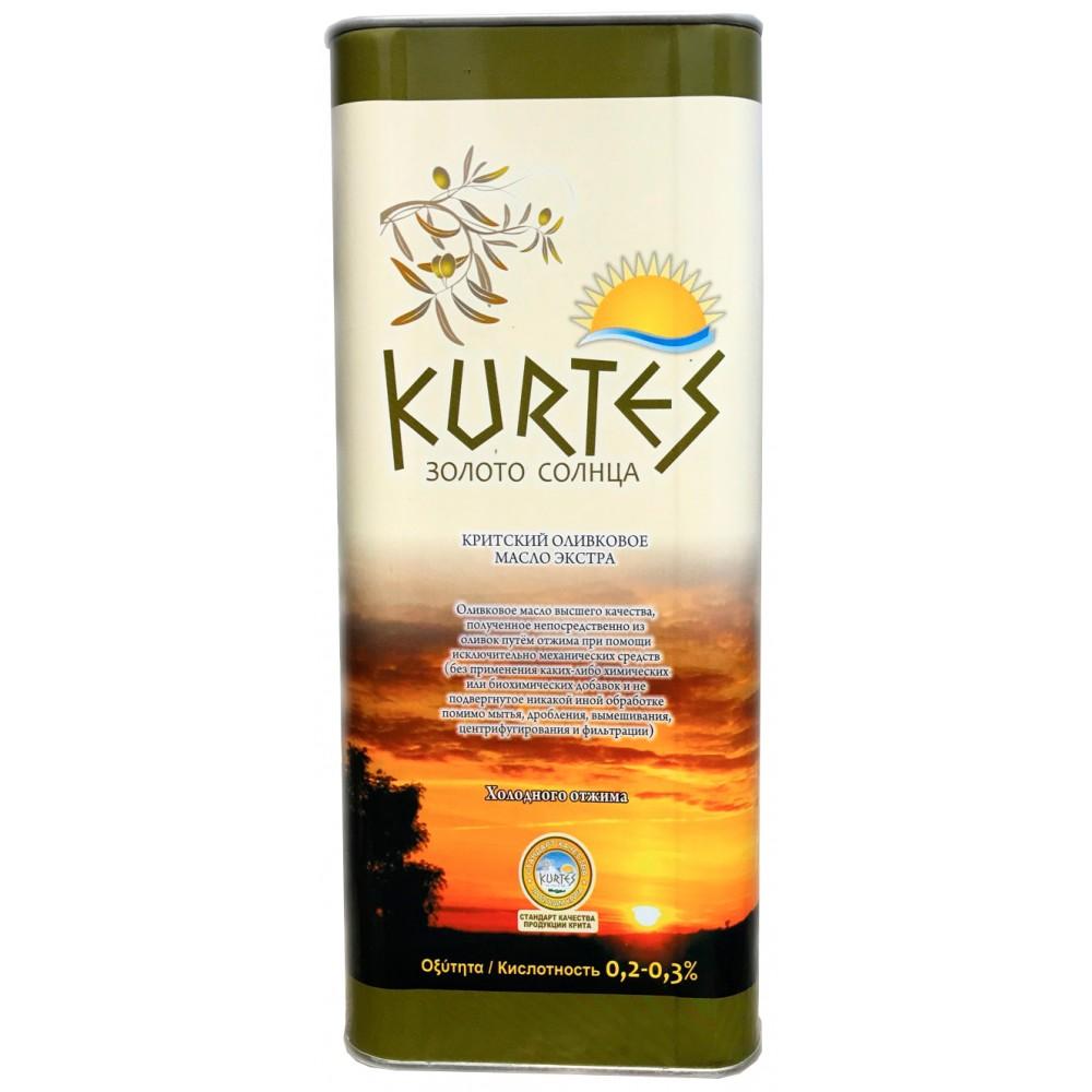 Оливковое масло KURTES Extra virgin PDO 5 л. - доставка в Ваш город