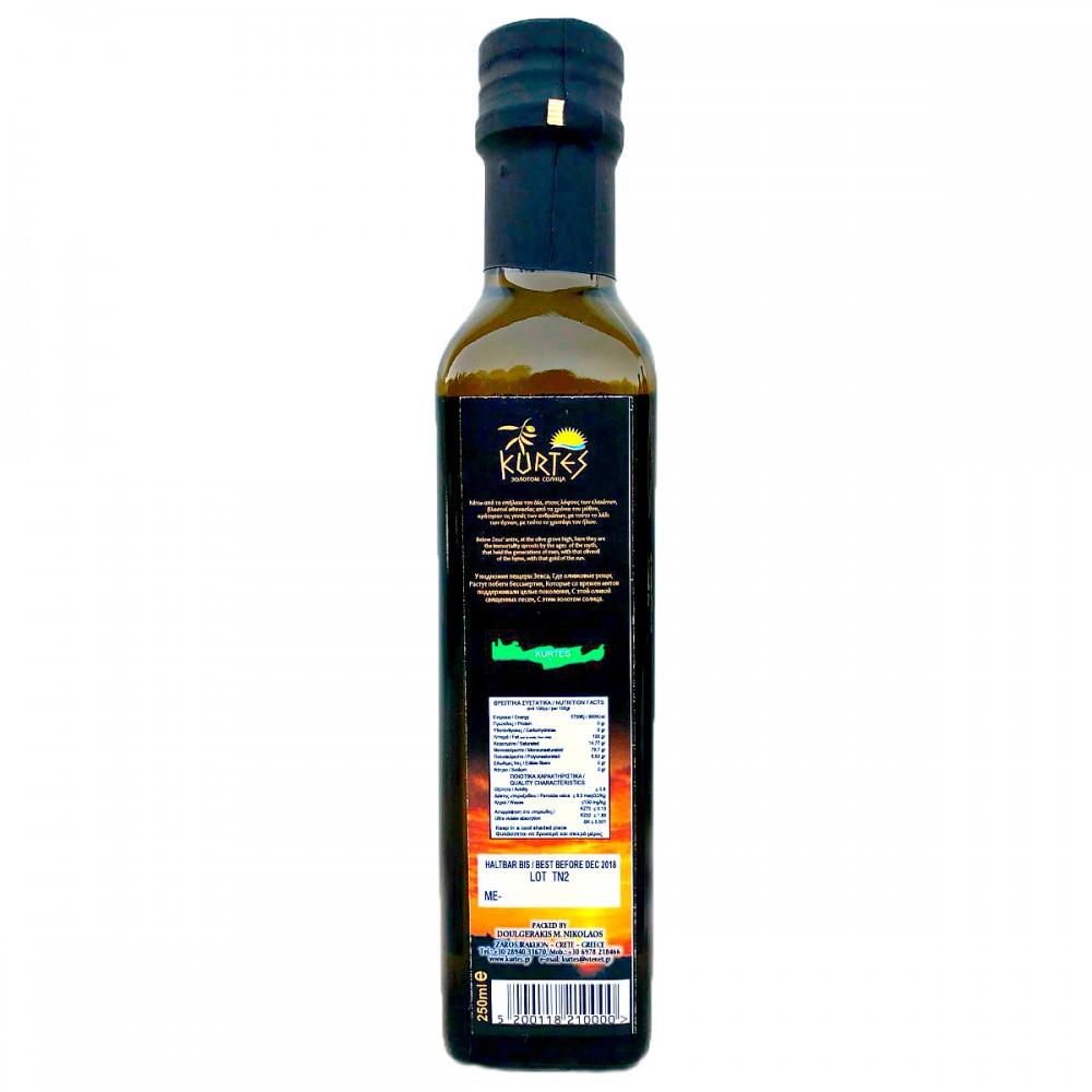 Оливковое масло KURTES Extra virgin PDO 250 мл. - кислотность 0,2-0,3 - доставка в Ваш город