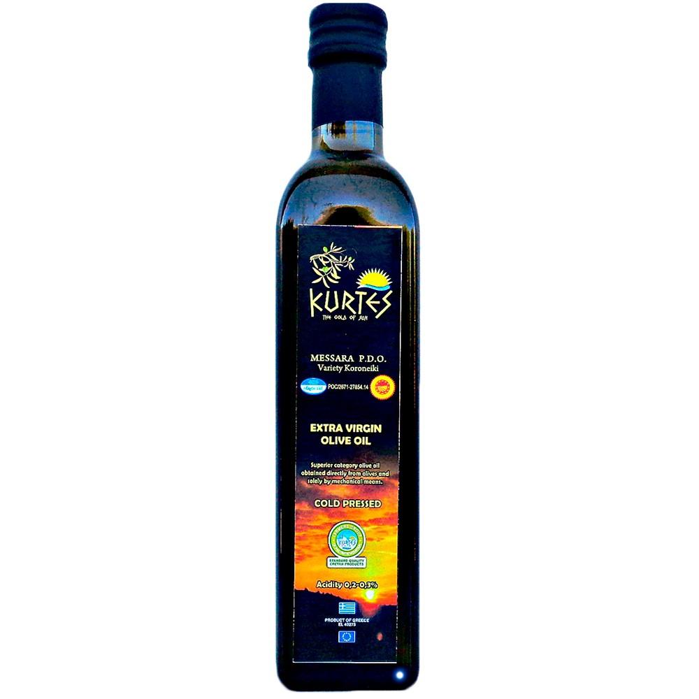Оливковое масло KURTES Extra virgin PDO 500 мл. - кислотность 0,2-0,3 - доставка в Ваш город