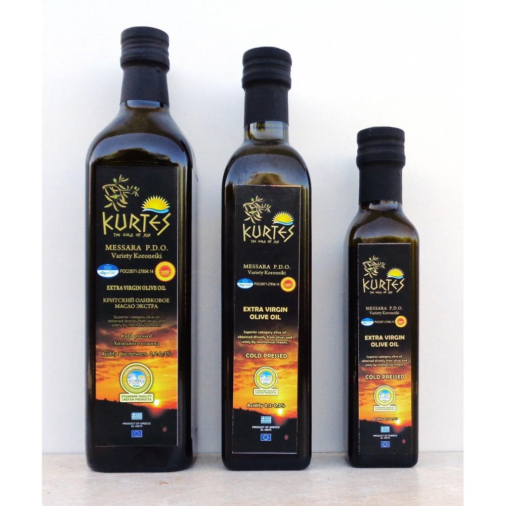 Оливковое масло KURTES Extra virgin PDO 750 мл. - кислотность 0,2-0,3 - 2017г. - доставка в Ваш город