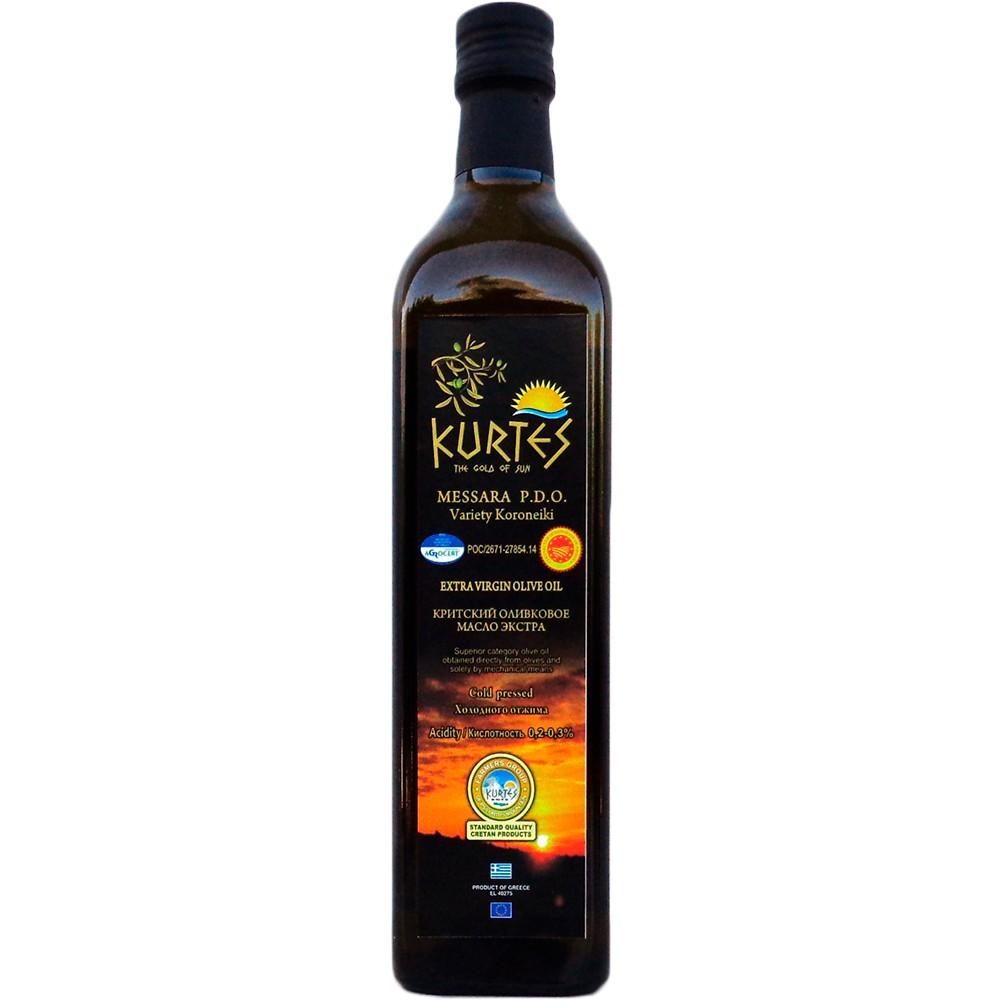 Оливковое масло KURTES Extra virgin PDO 750 мл. - кислотность 0,2-0,3 - доставка в Ваш город
