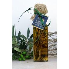 Оливковое масло KURTES Extra virgin PDO пикантное, с добавлением Чабреца и специй. 100 мл. Кислотность 0,2-0,3.