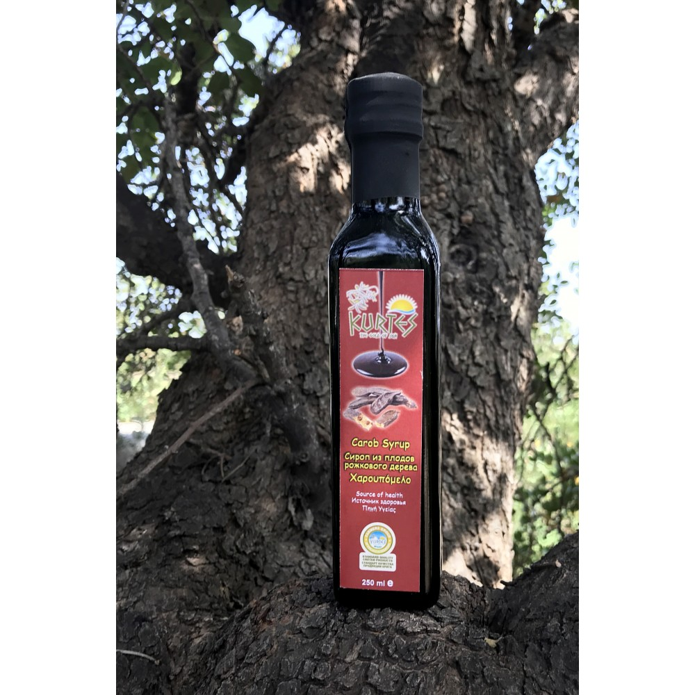 Сироп из плодов рожкового дерева (кэроб) 250мл. - KURTES - доставка в Ваш город