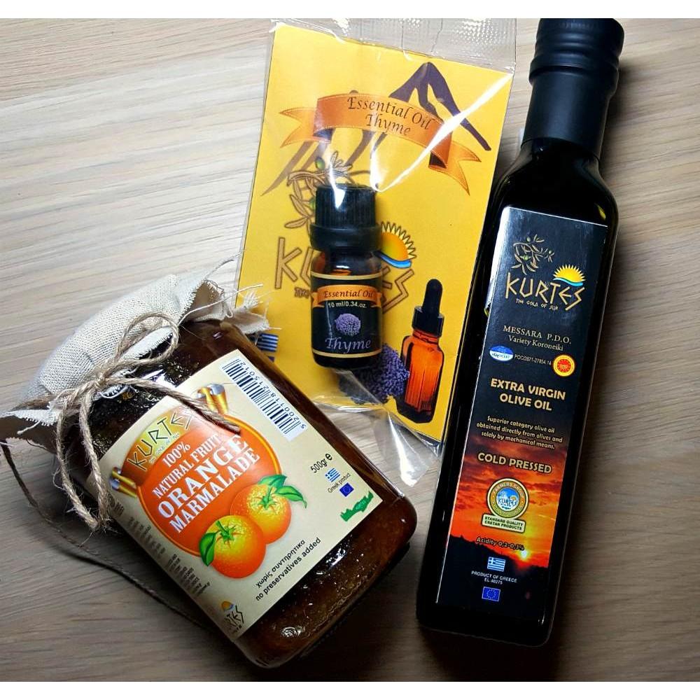 Набор греческой продукции KURTES с острова Крит - доставка в Ваш город