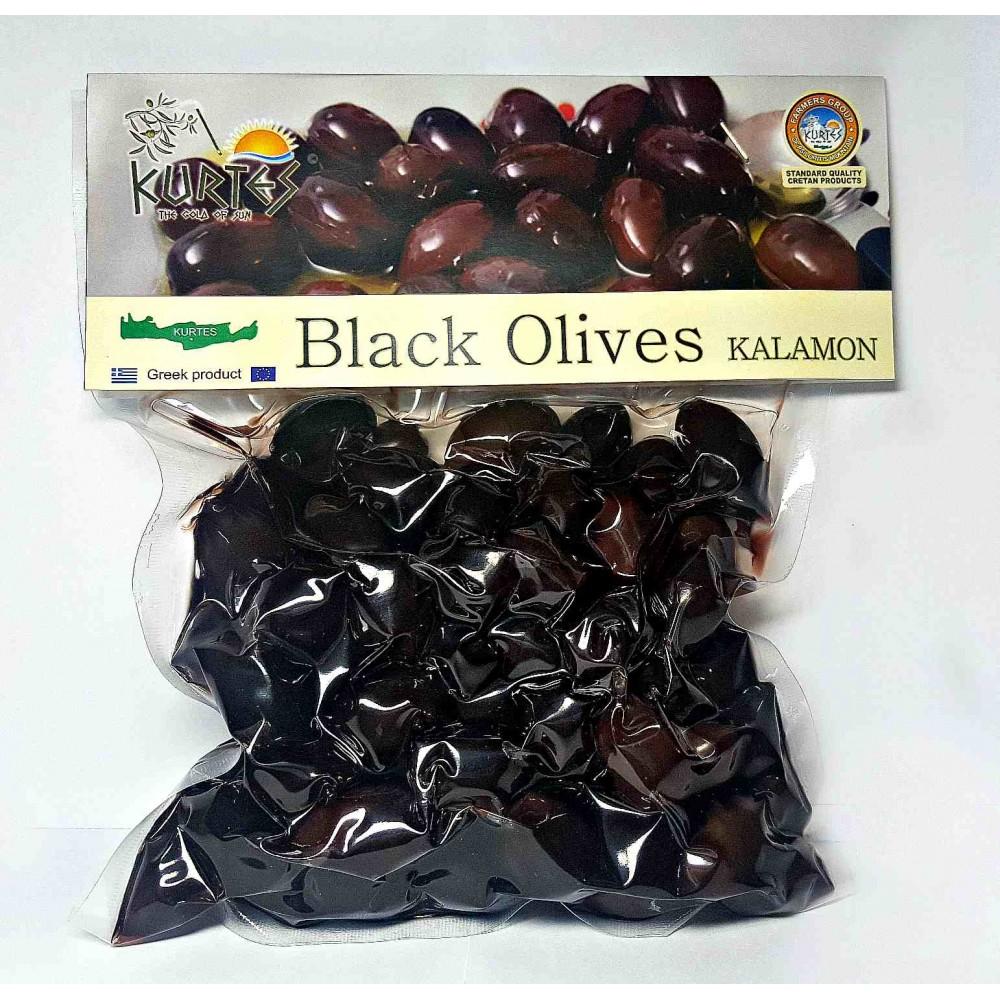Оливки черные (маслины ) сорт Каламон KURTES 1000 гр - доставка в Ваш город