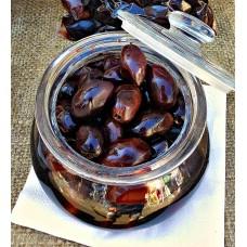 Оливки черные (маслины ) сорт Каламон KURTES 1000 гр
