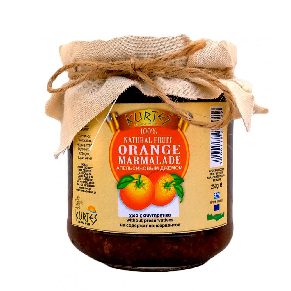 Апельсиновый конфитюр (джем) KURTES 250 мл. - доставка в Ваш город