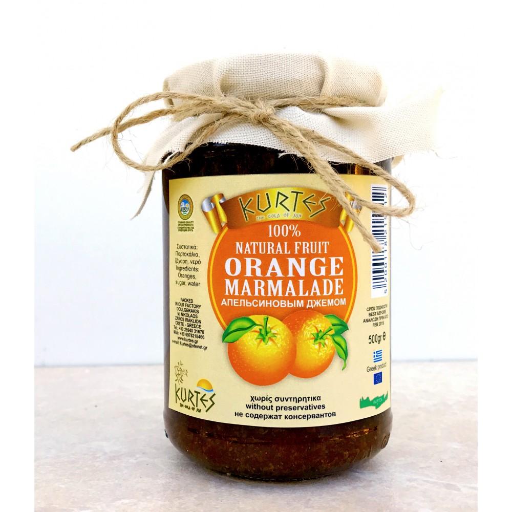 Апельсиновый конфитюр (джем) KURTES 500 мл. - доставка в Ваш город