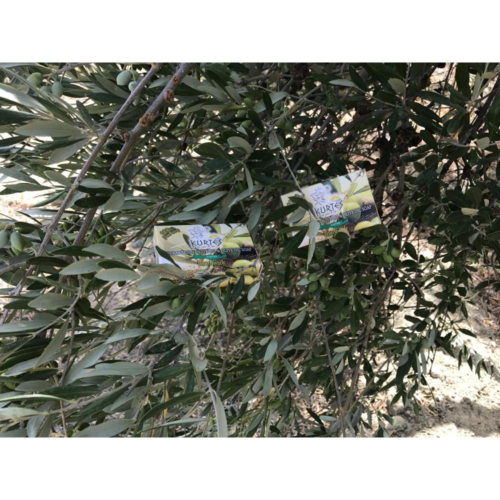 Оливковое мыло KURTES с ароматом розы - 90г. - доставка в Ваш город