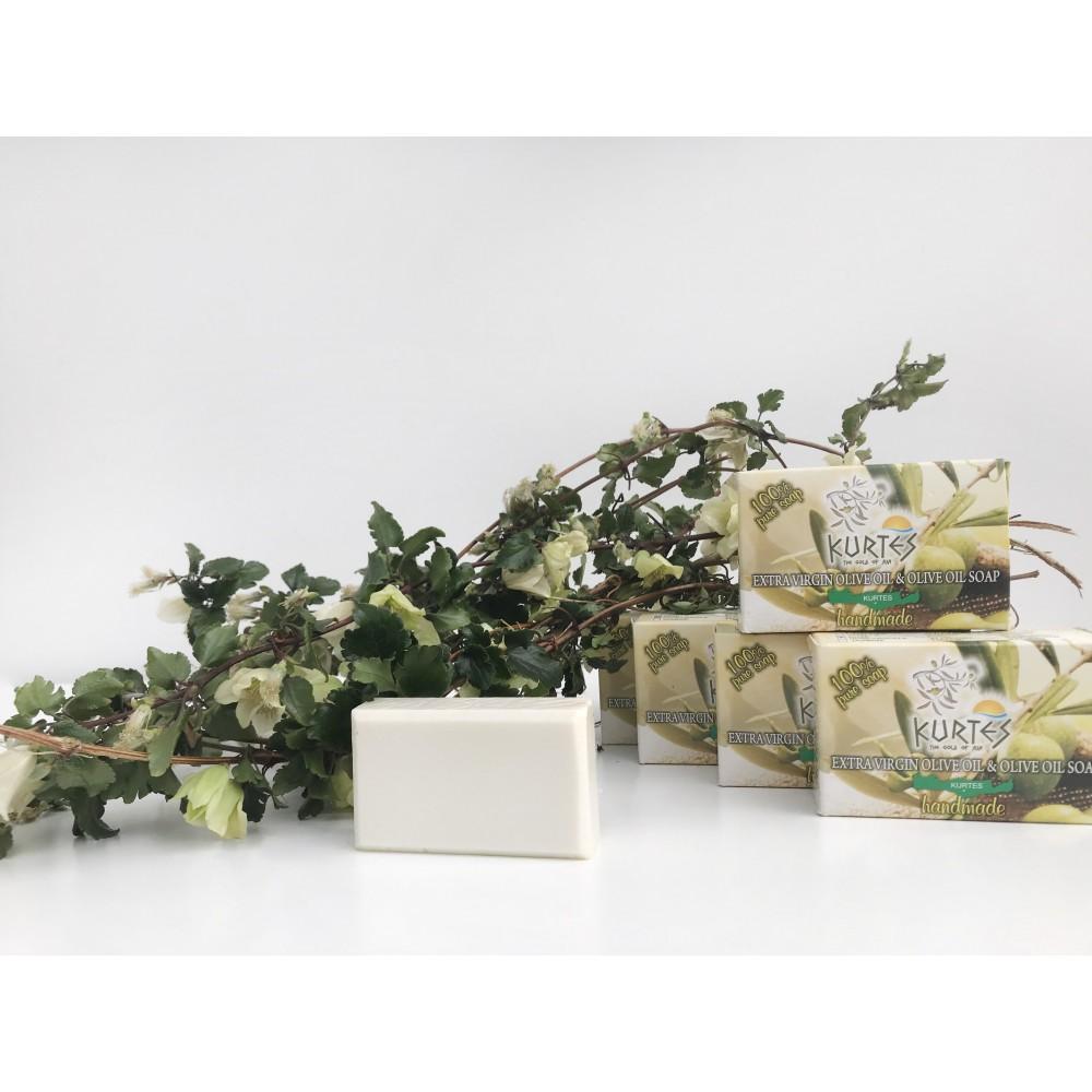 Оливковое мыло KURTES с ароматом жимолости - 90г. - доставка в Ваш город