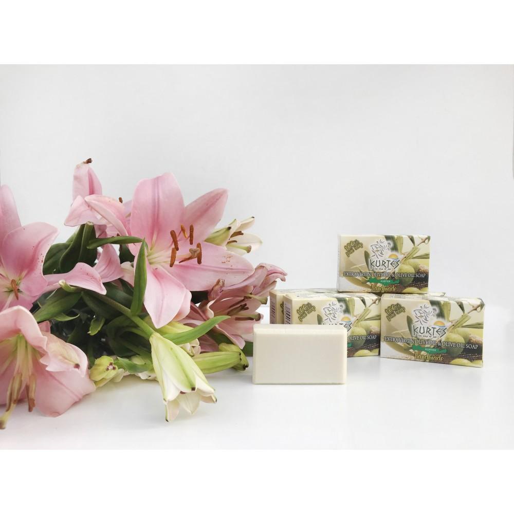 Оливковое мыло KURTES с ароматом ванили - 90г. - доставка в Ваш город
